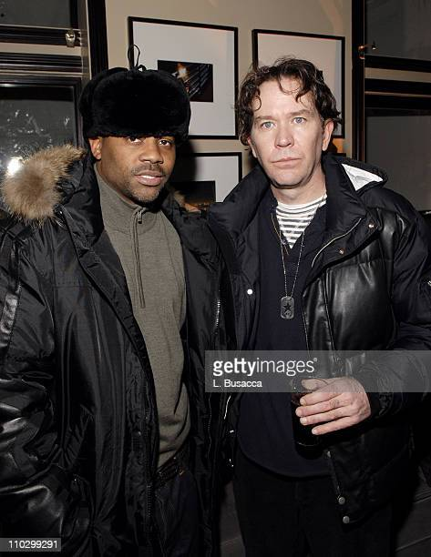 Damon Dash and Timothy Hutton during 2007 Park City Hollywood Life House Weapons Cocktail Party at Hollywood Life House in Park City Utah United...