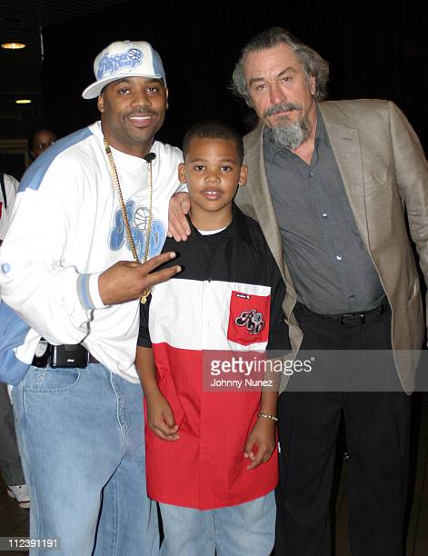 Damon Dash Boogie and Robert De Niro during 2003 Tribeca Film Festival 'Death of a Dynasty' Inside in New York City New York United States