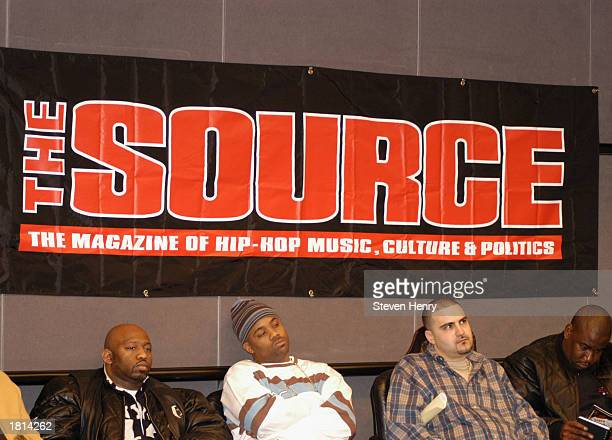 Damon Dash CEO of RocAFella Records and David Mays founder of The Source magazine sit on a panel at The Source Magazine HipHop State of Emergency...