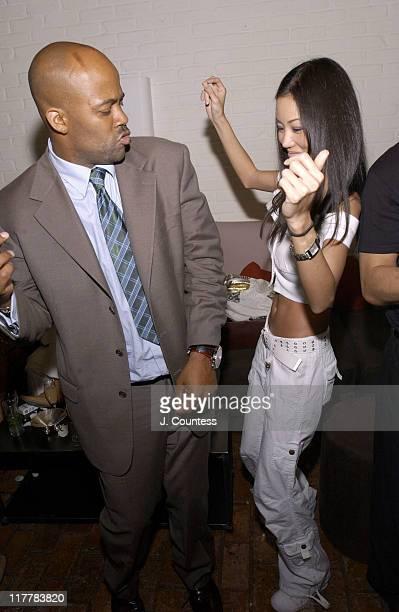 Damon Dash dances with Tammy Woolfolk during LA Reid Birthday Celebration Inside at Cipriani's in New York City New York United States