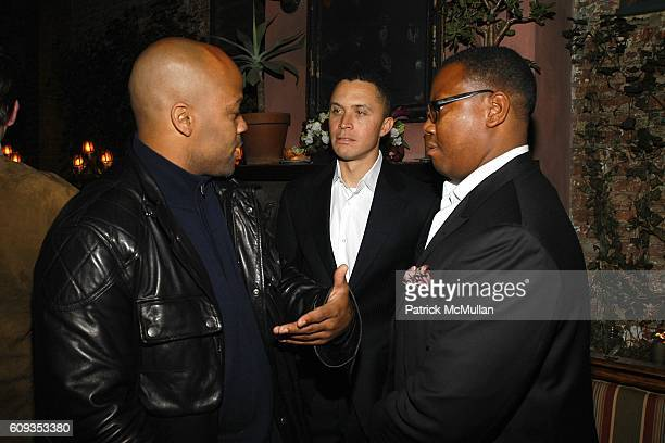 Damon Dash Harold Ford and Morris Reid attend Ronald Perelman's Dinner in Honor of Sheryl Crow and the Launch of the REVLON COLORIST Campaign at The...