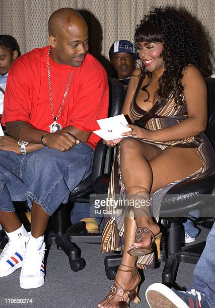 Damon Dash Lil' Kim during 6th Annual The Source HipHop Music Awards Announcement of the Official Nominees and New Categories at Millennium Broadway...