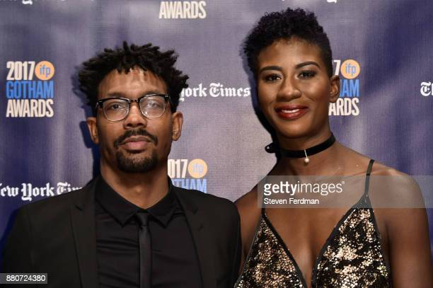 Damon Davis and Sabaah Folayan attend IFP's 27th Annual Gotham Independent Film Awards at Cipriani Wall Street on November 27 2017 in New York City