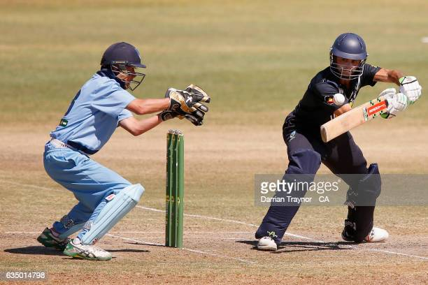 Damon Egan of Victoria bats during the National Indigenous Cricket Championships Final between New South Wales and Victoria on February 13 2017 in...