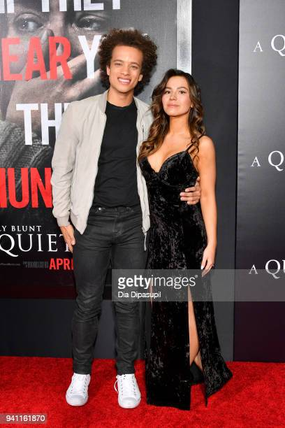 Damon Gillespie and Grace Aki attend the 'A Quiet Place' New York Premiere at AMC Lincoln Square Theater on April 2 2018 in New York City
