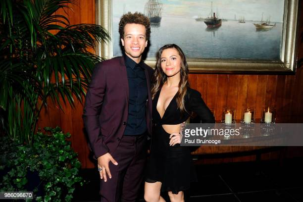 Damon Gillespie and Grace Aki attend The Cinema Society With Synchrony And Avion Host The After Party For Marvel Studios' AntMan And The Wasp at The...