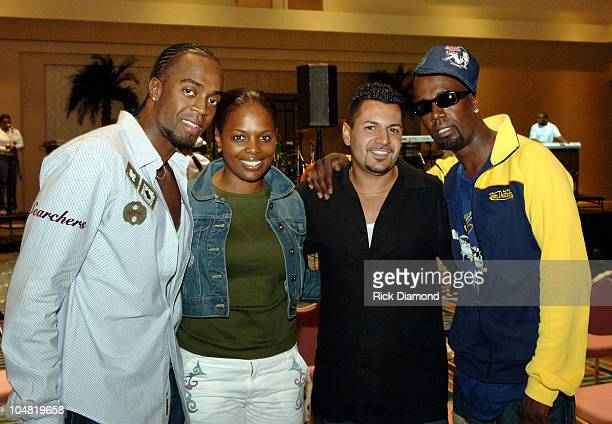 Damon Hall Catherine Brewton vice president of writer/publisher relations for BMI Michael Paran CEO/president of p music group and AaRon Hall