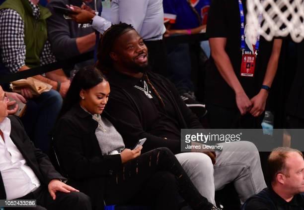 Damon Harrison attends the New York Knicks vs Atlanta Hawks game at Madison Square Garden on October 17 2018 in New York City