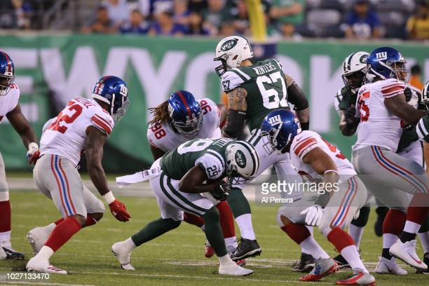 Damon Harrison of the New York Giants in action against the New York Jets during their preseason game at MetLife Stadium on August 24 2018 in East...