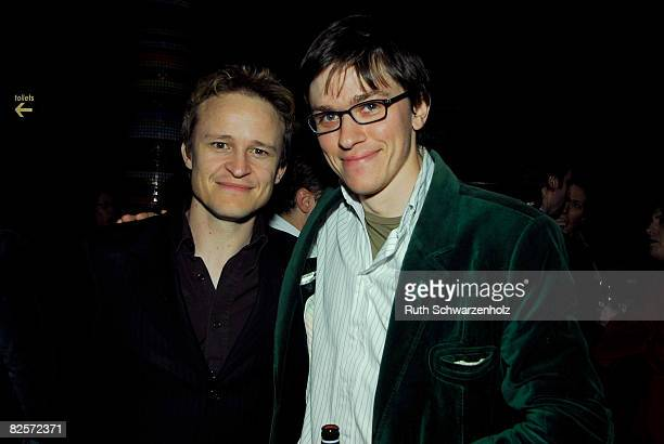 Damon Herriman and Abe Forsythe attend the screenings after party following the L'Oreal Paris 2008 AFI Awards Screening launch at The Forum at the...