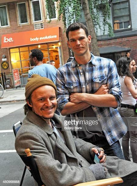 "Damon Herriman and Josh Helman on the set of ""Flesh and Bone"" on June 20, 2014 in New York City."