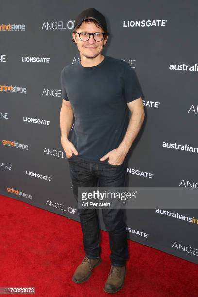 "Damon Herriman arrives at ""Angel of Mine"" Special Screening at Raleigh Studios on August 28, 2019 in Los Angeles, California."