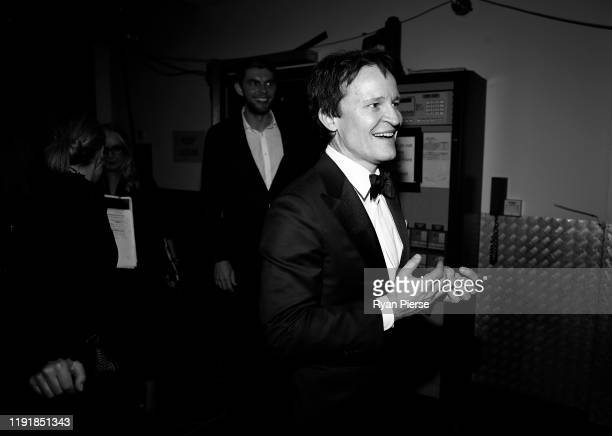 Damon Herriman celebrates backstage during the 2019 AACTA Awards Presented by Foxtel at The Star on December 04 2019 in Sydney Australia