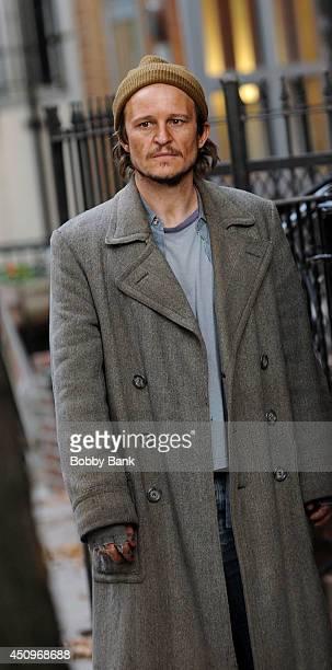 "Damon Herriman on the set of ""Flesh and Bone"" on June 20, 2014 in New York City."