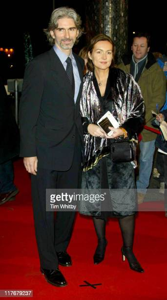 Damon Hill and his wife Georgie during BBC 50th Sports Personality Of The Year Awards at BBC Television Centre in London Great Britain