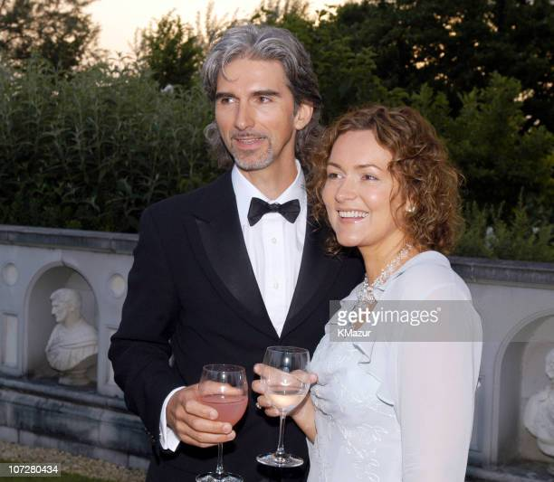 Damon Hill and his Wife Georgie during The Fifth Annual White Tie & Tiara Ball to Benefit the Elton John Aids Foundation in Association with Chopard...