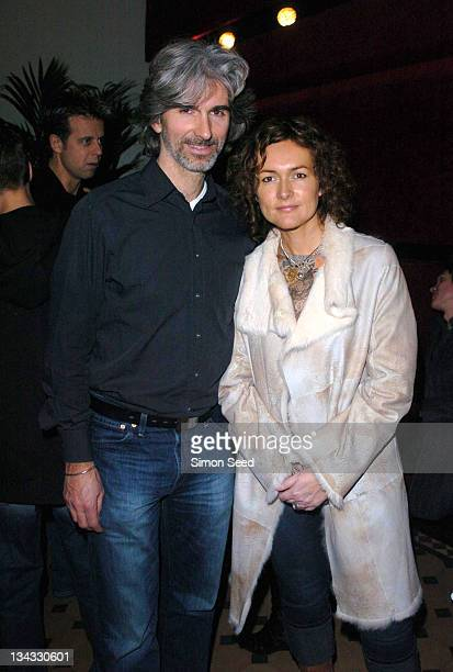 """Damon Hill and wife during """"Cirque Du Soleil: Dralion"""" - European Premiere at Royal Albert Hall in London, Great Britain."""
