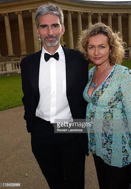 Damon Hill and wife Georgie during 2005 British Grand Prix Ball at Stowe House in Stowe, Great Britain.