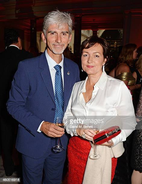 Damon Hill and wife Georgie Hill attend The F1 Party in aid of the Great Ormond Street Children's Hospital at the Victoria and Albert Museum on July...
