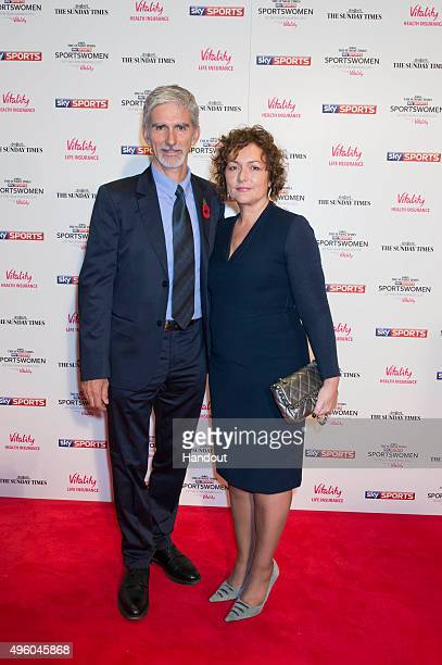 Damon Hill and wife Georgie Hill attends the The Sunday Times and Sky Sports Sportswomen of the Year Awards in association with Vitality on November...