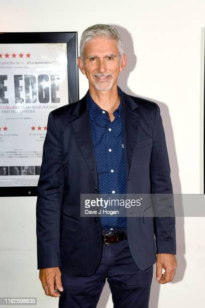 "Damon Hill attends the World Premiere of ""THE EDGE"" at Picturehouse Central on July 17, 2019 in London, England."
