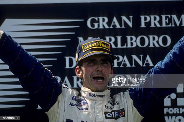Damon Hill, Grand Prix of Spain, Circuit de Barcelona-Catalunya, 29 May 1994. An emotional victory for Damon Hill in the 1994 Grand Prix of Spain,...
