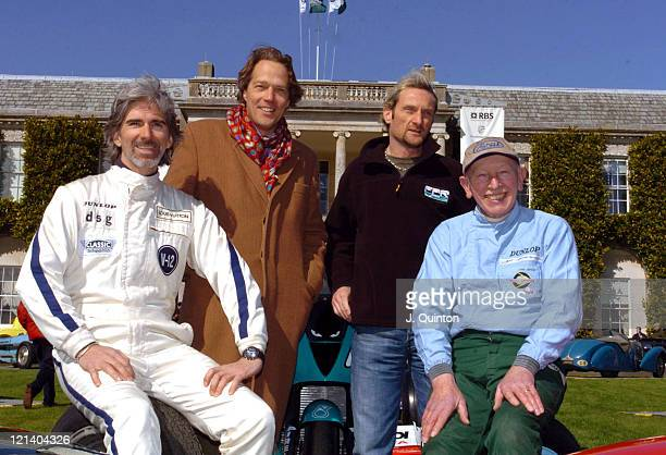Damon Hill Lord March Carl Fogarty and John Surtees