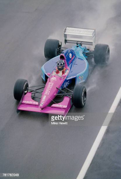 Damon Hill of Great Britain and son of former two time Formula 1 world champion Graham drives the Motor Racing Developments Brabham BT60B Judd V10 in...