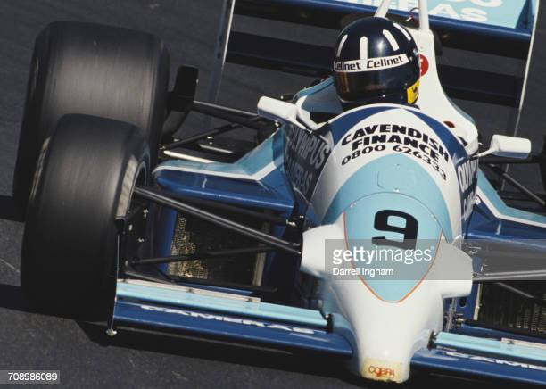 Damon Hill of Great Britain drives the Cobra Motorsport Reynard 88D Cosworth during the British F3000 Championship race on 25 June 1989 at the Brands...