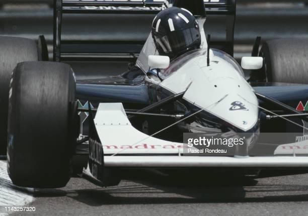 Damon Hill of Great Britain drives the Motor Racing Developments Ltd Brabham BT60B Judd GV V10 during practice for the Grand Prix of Monaco on 30th...