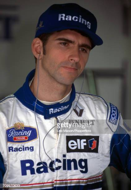 Damon Hill of Great Britain, driving the Williams FW17 with a Renault RS7 3.0 V10 engine for Rothmans Williams Renault, to second place prior to the...
