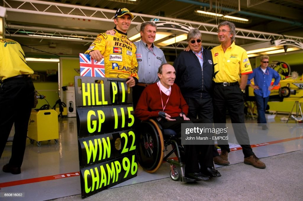 Damon Hill with all his team boss's in Formula One, Tom Walkinshaw