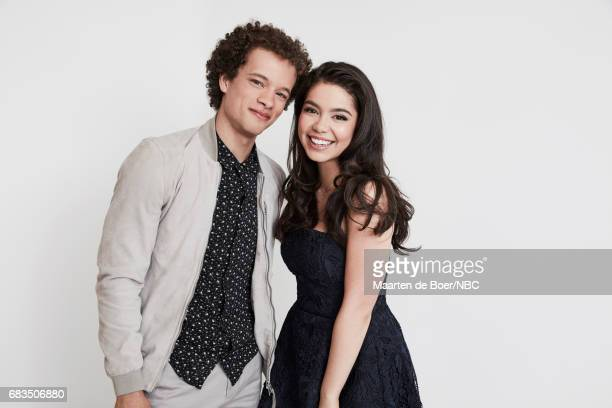Damon J Gillespie and Auli'i Cravalho of Rise pose for a photo during NBCUniversal Upfront Events Season 2017 Portraits Session at Ritz Carlton Hotel...