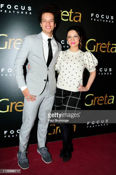 Damon J Gillespie and Grace Aki attend Focus Features Hosts A Special Screening Of Greta at Metrograph on February 19 2019 in New York City