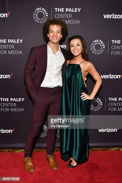 Damon J Gillespie and Grace Aki attend the 2018 Paley Honors at Cipriani Wall Street on May 15 2018 in New York City