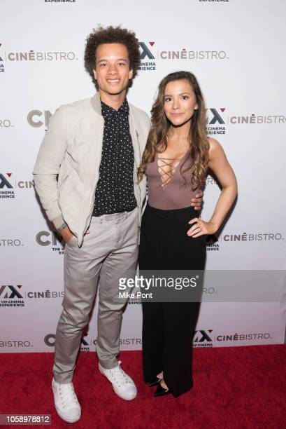 "Damon J Gillespie and Grace Aki attend the opening of CMX CineBistro with special screenings of ""BlacKkKlansman"", ""City Lights"" & ""Pretty Baby"" at..."