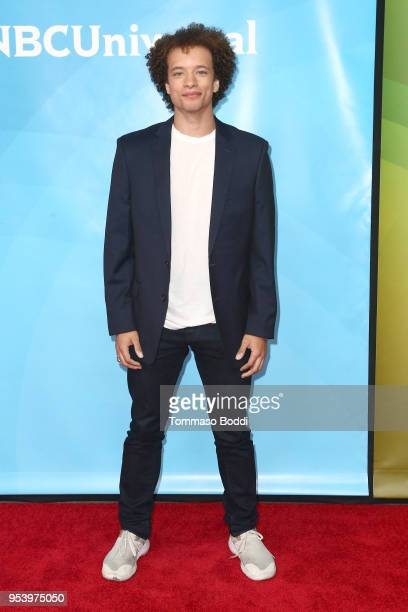 Damon J Gillespie attends the NBCUniversal Summer Press Day 2018 at Universal Studios Backlot on May 2 2018 in Universal City California