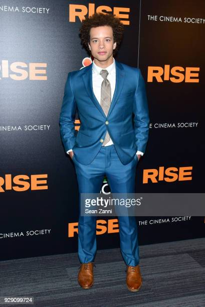 Damon J Gillespie attends the premiere of Rise hosted by NBC The Cinema Society at The Landmark at 57 West on March 7 2018 in New York City