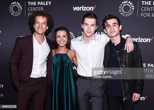 Damon J Gillespie Grace Aki Casey Johnson and Ted Sutherland attend the 2018 The Paley Honors at Cipriani Wall Street on May 15 2018 in New York City