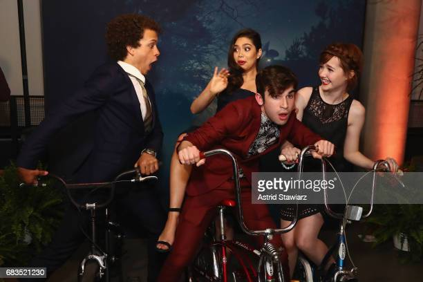 Damon J Gillespie Ted Sutherland Auli'i Cravalho and Taylor Richardson attend the Entertainment Weekly and PEOPLE Upfronts party presented by Netflix...