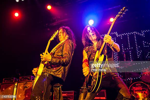 Damon Johnson and Ricky Warwick of Thin Lizzy performs on stage at the MitsubishiElectricHall on May 01 2012 in Duesseldorf Germany