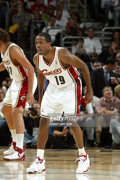 Damon Jones of the Cleveland Cavaliers is on the court during the game against the Washington Wizards on November 1 2006 at The Quicken Loans Arena...