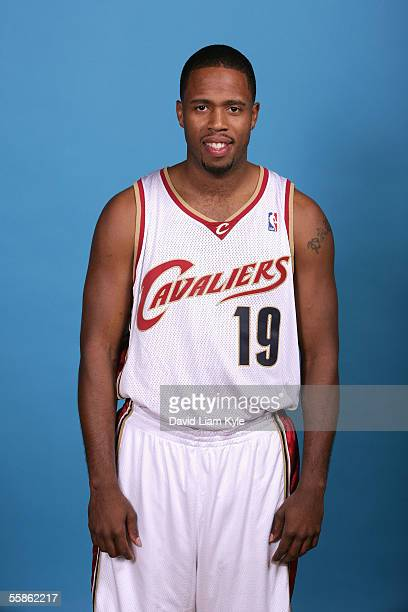Damon Jones of the Cleveland Cavaliers poses for a head shot during Cavs media day at Gund Arena on October 3 2005 in Cleveland Ohio NOTE TO USER...