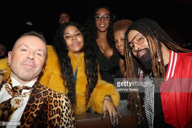 Damon 'Lengendary Dam' Peruzzi Misa Hylton designer June Ambrose Rowena Husbands and Ty Hunter attend the Essence 9th annual Black Women in Music at...
