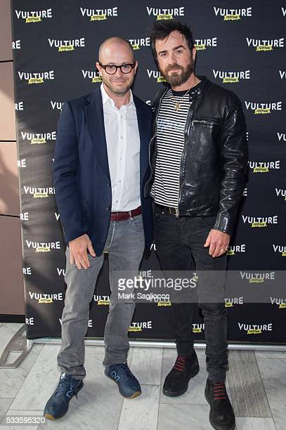 Damon Lindelof and Actor Justin Theroux attend the Inside 'The Leftovers' at the 2016 Vulture Festival at The Standard Highline on May 22 2016 in New...