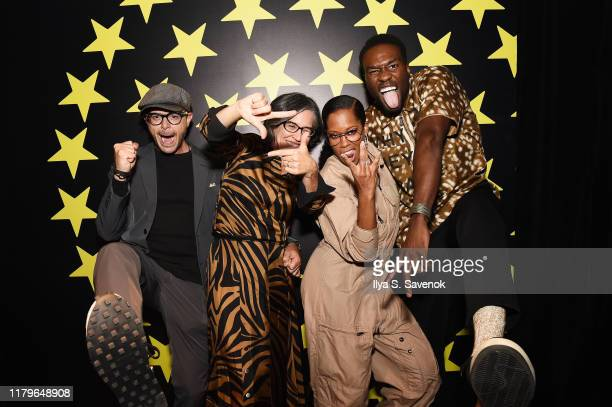 """Damon Lindelof, Nicole Kassell, Regina King, and Yahya Abdul-Mateen II attend HBO's """"Watchmen"""" Party During NYCC on October 04, 2019 in New York City."""