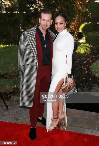 """Damon Sharpe and Christina Montelongo attend a private event with the cast of MTV's """"The Hills"""" hosted by Cure Addiction Now & The Red Songbird..."""