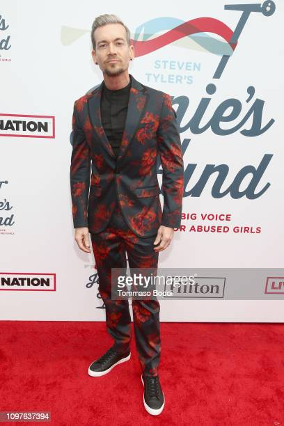 Damon Sharpe attends Steven Tyler's Second Annual GRAMMY Awards Viewing Party to benefit Janie's Fund presented by Live Nation at Raleigh Studios on...