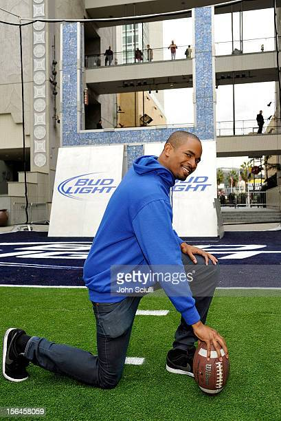 Damon Wayans Jr. Celebrated America Recycles Day on Nov. 15. Wayans kicked field goals with adults at the Bud Light Recycling Zone, which features a...