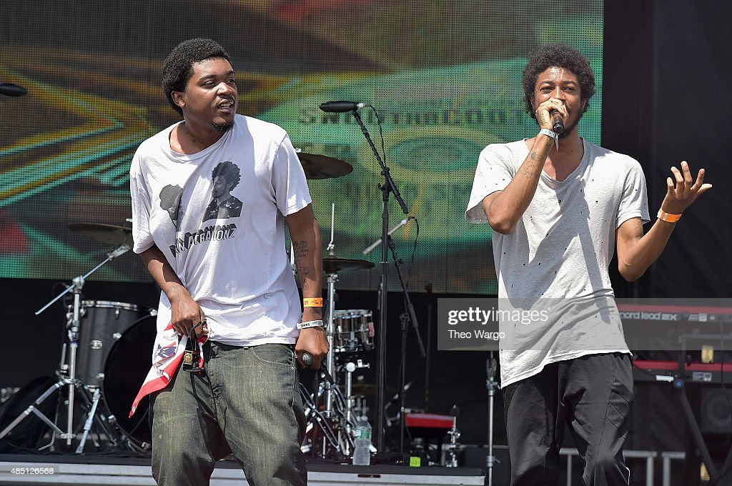 Damondre 'Mondre M.A.N.' Grice and Charles 'Squadda B' Glover of Main Attrakionz perform during Billboard Hot 100 Festival - Day 2 at Nikon at Jones Beach Theater on August 23, 2015 in Wantagh, New York.